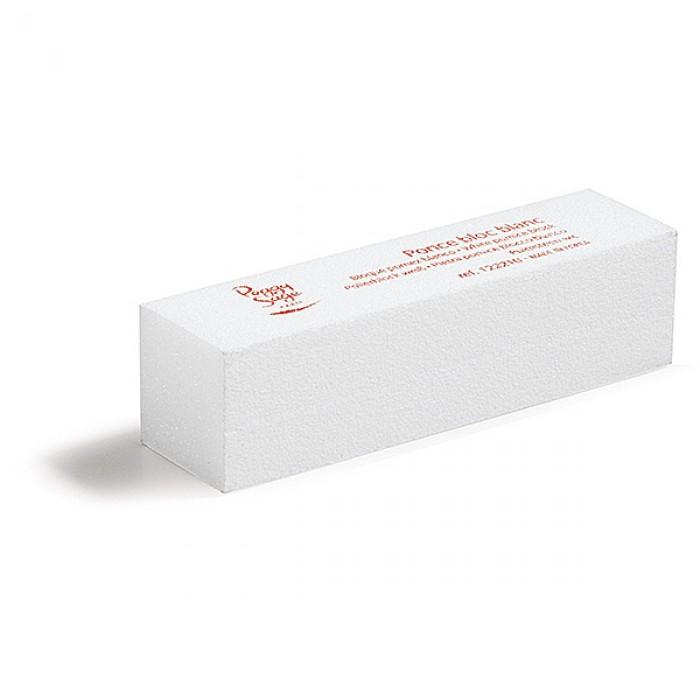 White sanding nail block