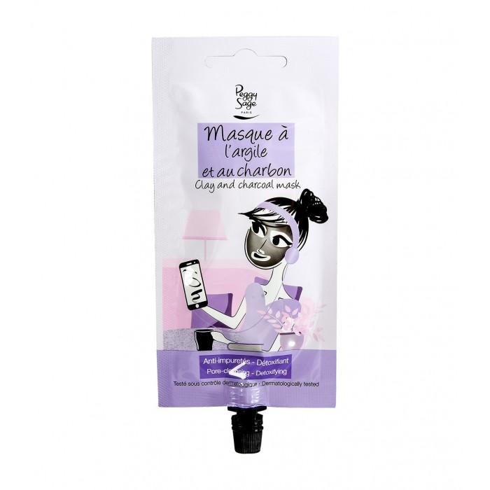 Peggy Sage poore puhastav ja mürke väljutav musta söe ja saviga mask 25ml