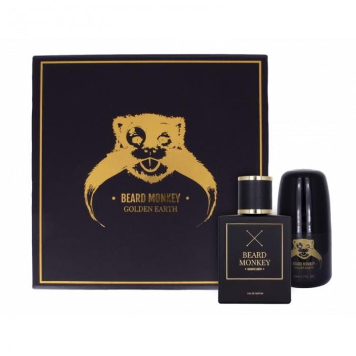 Beard Monkey Golden Earth Gift Set Roll-on Deo 50ml+ EDP 50ml
