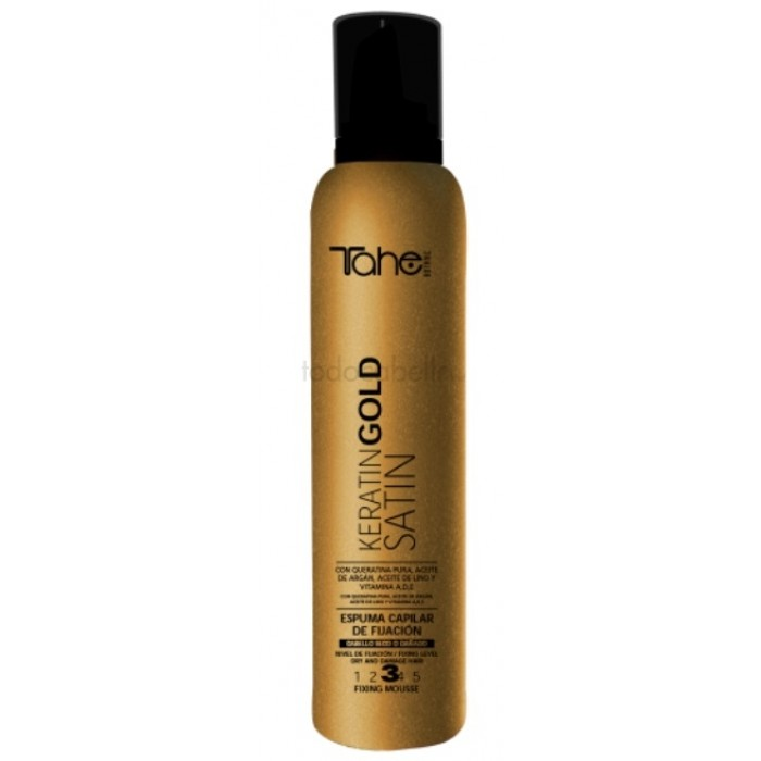 TAHE Keratin Gold Satin juukselakk 3, 400ml