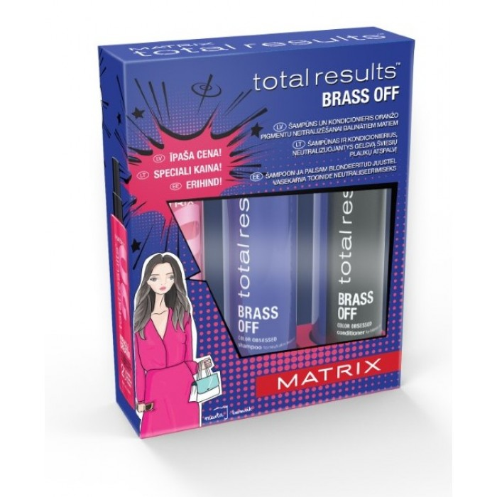 Matrix Total Results Brass Off Gift Set