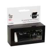Scraper & stamp nail-stamping kit