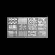 Nail art stamping plate