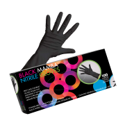 Framar Black Mamba Nitrile Gloves L 100pcs