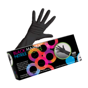 Framar Black Mamba Nitrile Gloves S 100pcs