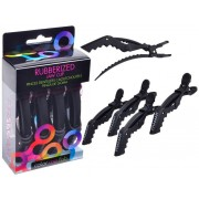 Framar Rubberized Jaw Clip Black 4pcs
