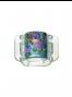Juukseklamber lilleline sinine MIDI