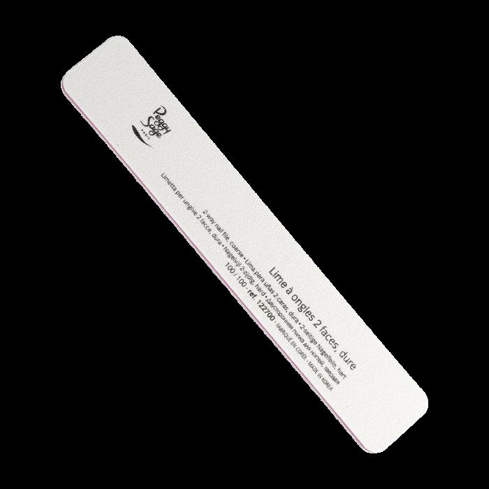 Peggy Sage 2-way rectangular nail file 100/100, white